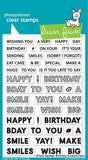 LAWN FAWN: Offset Sayings | Birthday