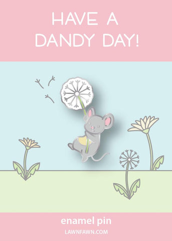 LAWN FAWN: Dandy Mouse | Enamel Pin