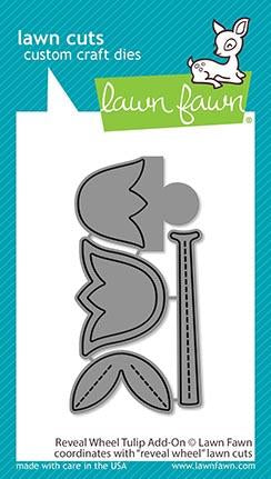 LAWN FAWN: Reveal Wheel Tulip Add-on | Lawn Cuts Die