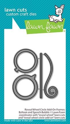 LAWN FAWN: Reveal Wheel Circle Add-on Frames | Balloon and Speech Bubble | Lawn Cuts Die