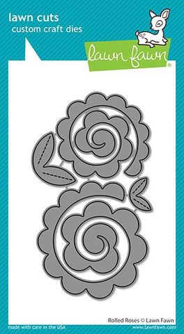 LAWN FAWN: Rolled Roses | Lawn Cuts Die