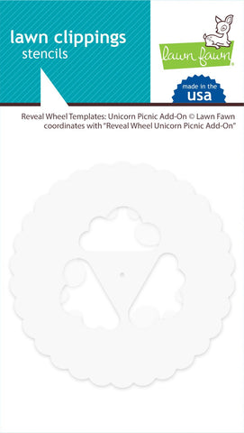 LAWN FAWN: Reveal Wheel Templates | Unicorn Picnic Add-on