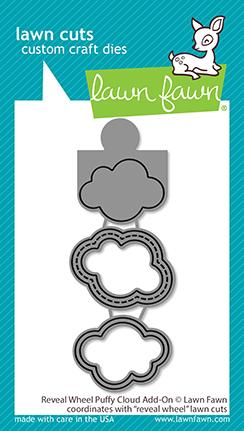 LAWN FAWN: Reveal Wheel Puffy Cloud Add-on | Lawn Cuts Die