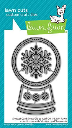 LAWN FAWN: Shutter Card Snow Globe Add On | Lawn Cuts Die.