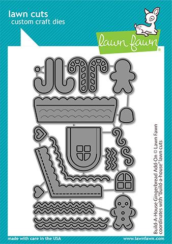 LAWN FAWN: Build a House Gingerbread Add-on | Lawn Cuts Die.