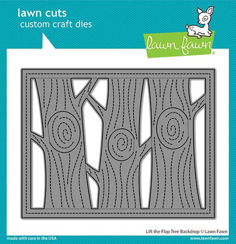 LAWN FAWN: Backdrop Lift the Flap Tree | Lawn Cuts Die.