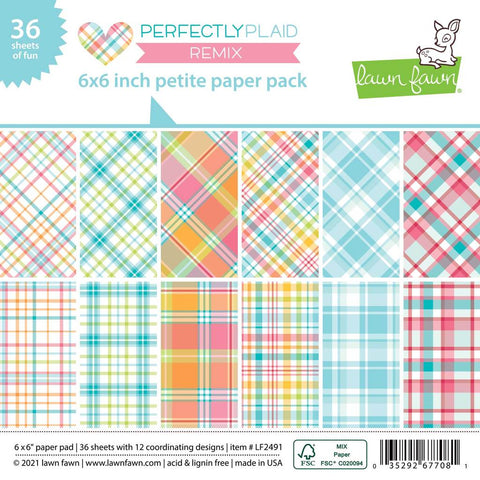 "LAWN FAWN: Perfectly Plaid Remix | 6"" x 6"" Paper"