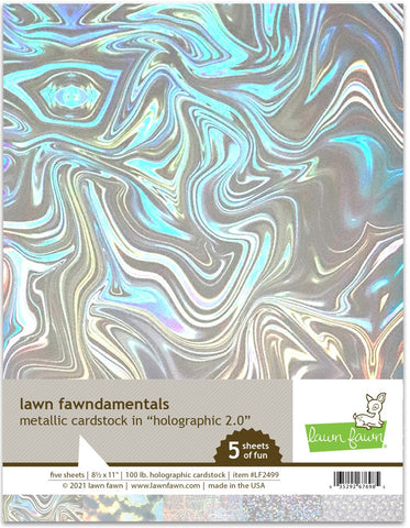 LAWN FAWN: Metallic Cardstock | Holographic 2.0