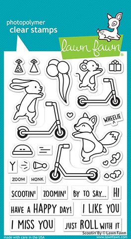 LAWN FAWN: Scootin' By | Stamp