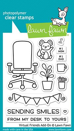 LAWN FAWN: Virtual Friends Add-on | Stamp