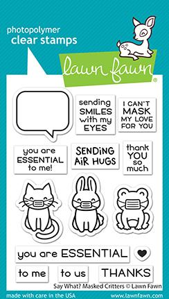 LAWN FAWN: Say What?  Masked Critters | Stamp