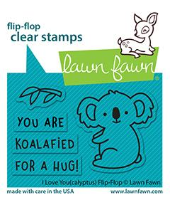 LAWN FAWN: I Love You(calyptus) Flip Flop | Stamp