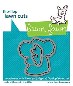 LAWN FAWN: I Love You(calyptus) Flip-Flop | Lawn Cuts Die