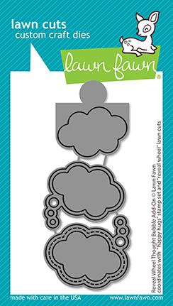 LAWN FAWN: Reveal Wheel Thought Bubble Add-on | Lawn Cuts Die