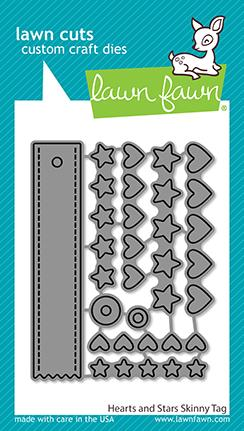 LAWN FAWN: Hearts and Stars Skinny Tag | Lawn Cuts Die