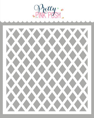 PRETTY PINK POSH:  Stencil | Lattice