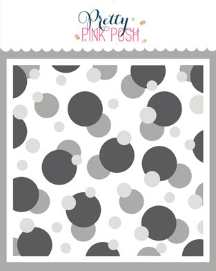 PRETTY PINK POSH:  Stencil | Layered Bokeh 3PK