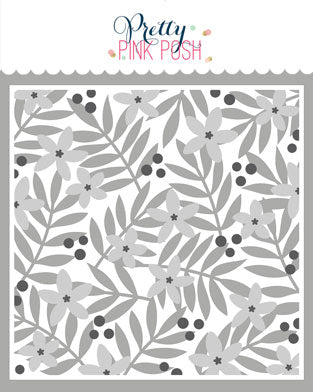 PRETTY PINK POSH:  Stencil | Layered Leaves & Flowers - 3 pack