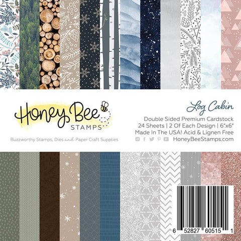 "HONEY BEE STAMPS: Log Cabin | 6"" x 6"" Paper Pad"