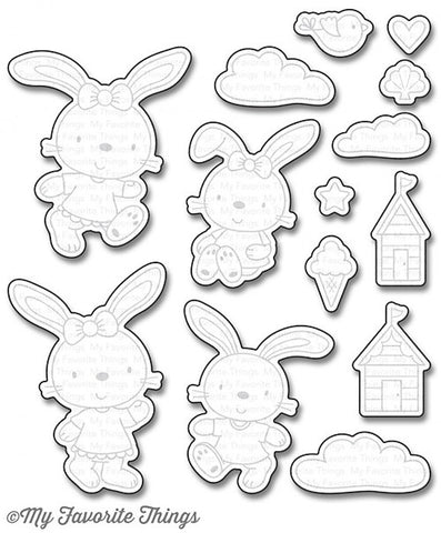 MFT STAMPS: Beach Bunnies Die-namics