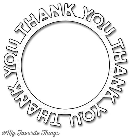 MFT STAMPS: Thank You Circle Frame Die-namics