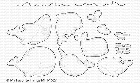 MFT STAMPS: BB Friends with Fins Die-namics