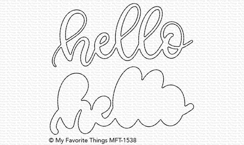MFT STAMPS: Sweet Hello Die-namics