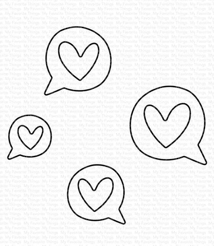 MFT STAMPS: Love Speech Bubbles | Die-namics