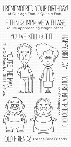 MFT STAMPS: BB Old Friends | Stamp