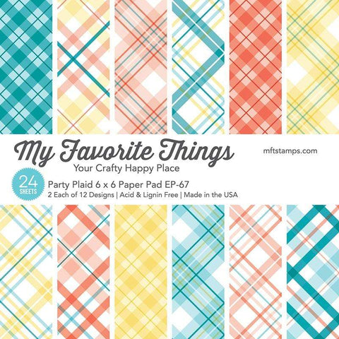 "MFT STAMPS: Party Plaid | 6"" x 6"" Paper Pack"
