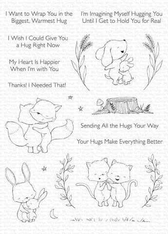 MFT STAMPS: SY Hugs Make Everything Better | Stamp