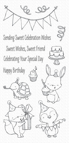 MFT STAMPS: SY Sending Sweet Celebration Wishes