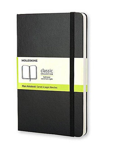 MOLESKINE: Hard Cover Plain Notebook