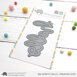 MAMA ELEPHANT: Big Scripty Hello Creative Cuts