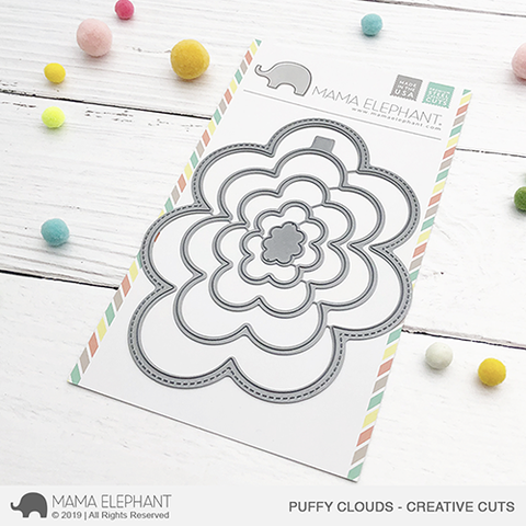 MAMA ELEPHANT: Puffy Clouds Creative Cuts