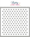 PRETTY PINK POSH:  Stencil | Medium Polka Dots