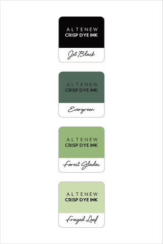 ALTENEW: Mini Dye Ink Cubes 4/pk (Green Fields)