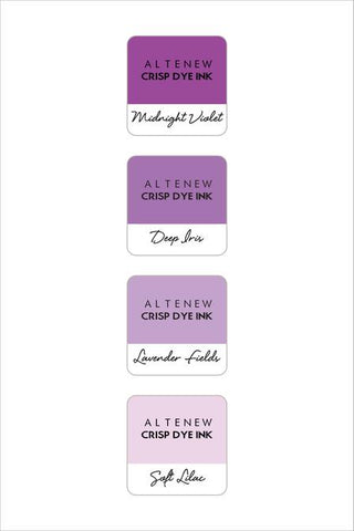 ALTENEW: Mini Dye Ink Cubes 4/pk (Shades Of Purple)