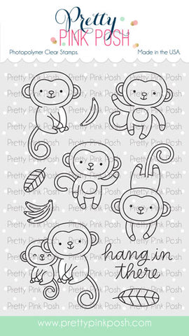 PRETTY PINK POSH:  Monkey Friends | Stamp