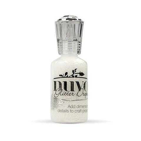 NUVO: Glitter Drops 1oz (White Blizzard)