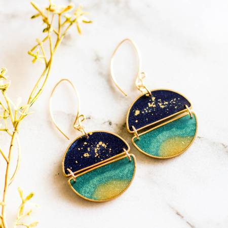 NO MAN'S LAND ARTIFACTS:  Night Swimming Earrings
