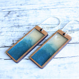 NO MAN'S LAND ARTIFACTS:  Ocean Currents Rectangle Earrings