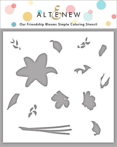 ALTENEW: Our Friendship Blooms | Stencil