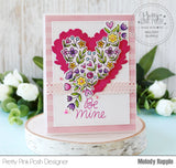 PRETTY PINK POSH:  Large Floral Hearts