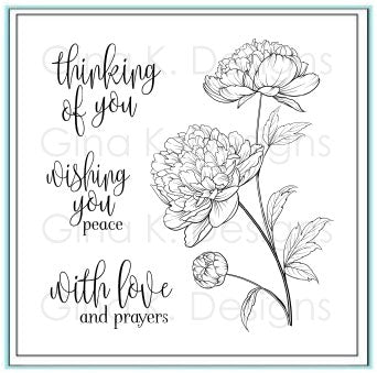 GINA K. DESIGNS:  Peaceful Floral | Stamp