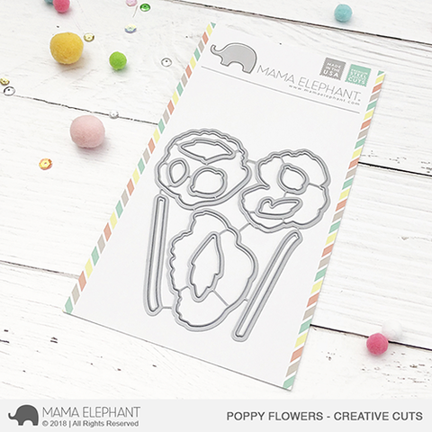 MAMA ELEPHANT: Poppy Flowers Creative Cuts