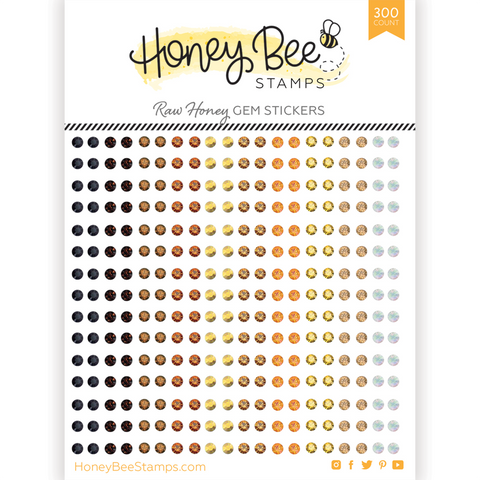 HONEY BEE STAMPS: Raw Honey Gem Stickers | 300 Count