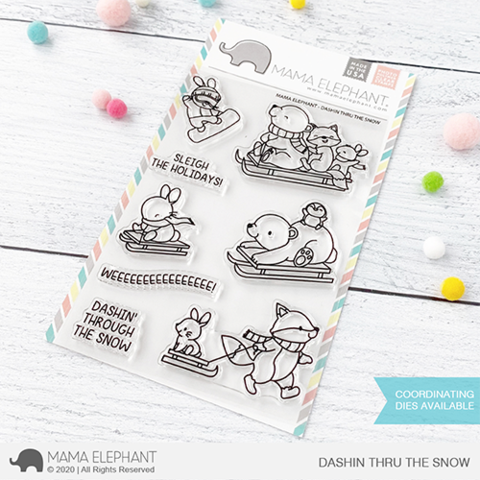 MAMA ELEPHANT: Dashin' Thru the Snow | Stamp