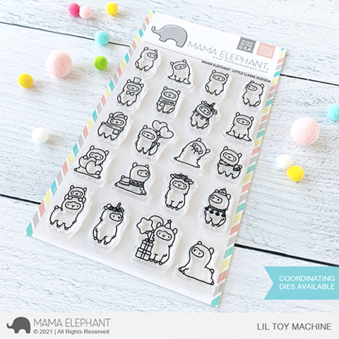 MAMA ELEPHANT: Little Llama Agenda | Stamp