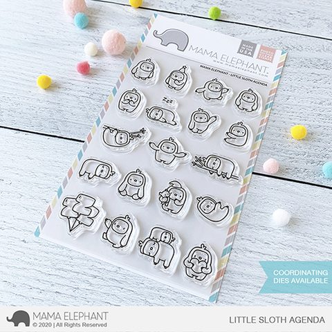 MAMA ELEPHANT: Little Sloth Agenda | Stamp